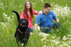 Foto de compromiso con la mascota
